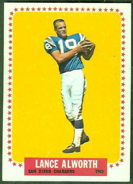 Lance Alworth 1964 Topps football card