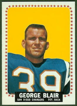 George Blair 1964 Topps football card