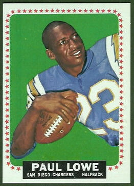 Paul Lowe 1964 Topps football card