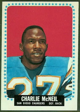 Charles McNeil 1964 Topps football card
