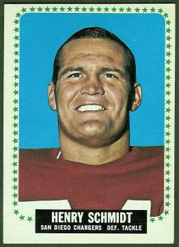 Henry Schmidt 1964 Topps football card
