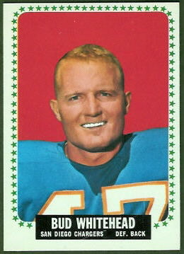 Bud Whitehead 1964 Topps football card