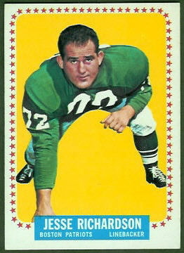 Jesse Richardson 1964 Topps football card
