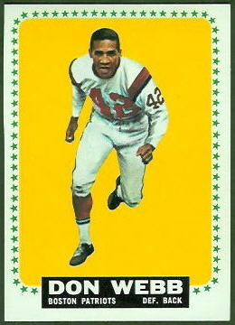 Don Webb 1964 Topps football card