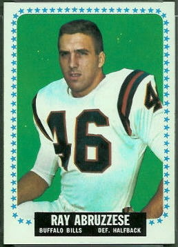 Ray Abruzzese 1964 Topps football card