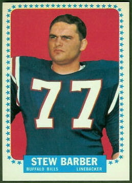 Stew Barber 1964 Topps football card