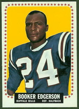 Booker Edgerson 1964 Topps football card