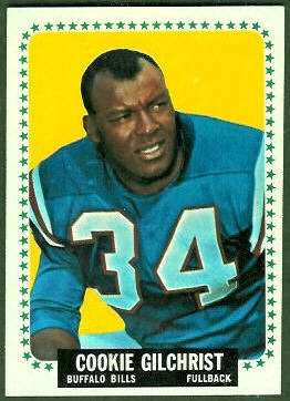 Cookie Gilchrist 1964 Topps football card