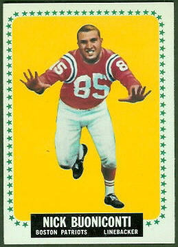 Nick Buoniconti 1964 Topps football card