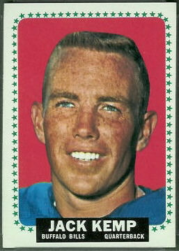 Jack Kemp 1964 Topps football card