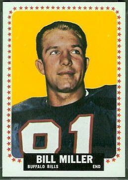 Bill Miller 1964 Topps football card