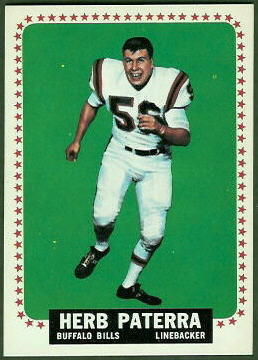 Herb Paterra 1964 Topps football card