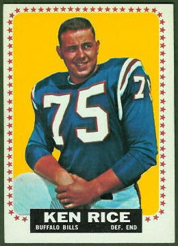 Ken Rice 1964 Topps football card