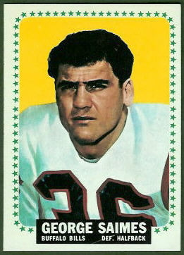 George Saimes 1964 Topps football card