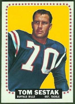 Tom Sestak 1964 Topps football card