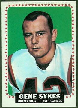 Gene Sykes 1964 Topps football card