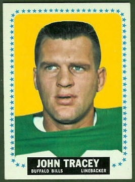John Tracey 1964 Topps football card
