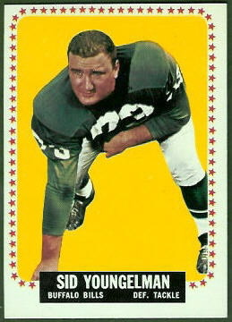Sid Youngelman 1964 Topps football card