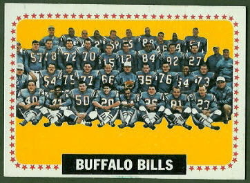 Buffalo Bills Team 1964 Topps football card