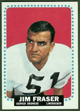 Jim Fraser 1964 Topps football card