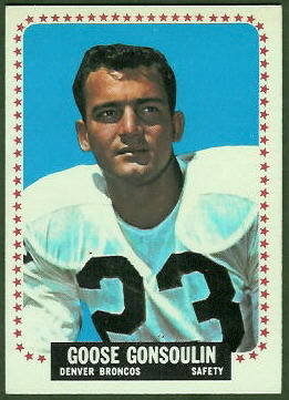 Goose Gonsoulin 1964 Topps football card