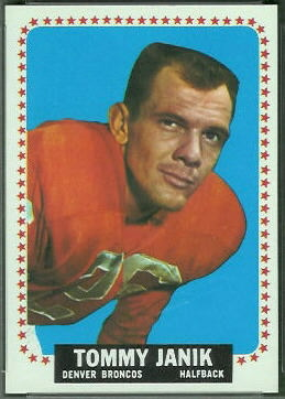 Tom Janik 1964 Topps football card