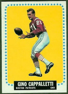 Gino Cappelletti 1964 Topps football card