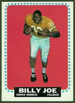 Billy Joe 1964 Topps football card