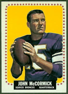 John McCormick 1964 Topps football card