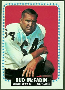 Bud McFadin 1964 Topps football card