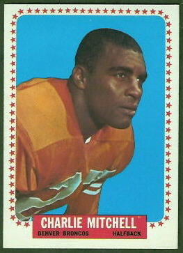 Charlie Mitchell 1964 Topps football card
