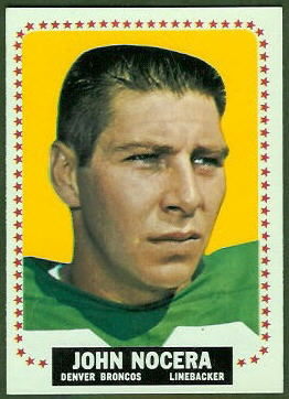 John Nocera 1964 Topps football card