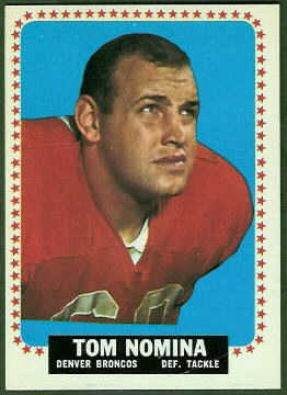 Tom Nomina 1964 Topps football card
