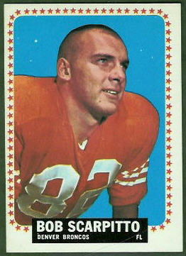 Bob Scarpitto 1964 Topps football card