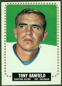 Tony Banfield 1964 Topps football card