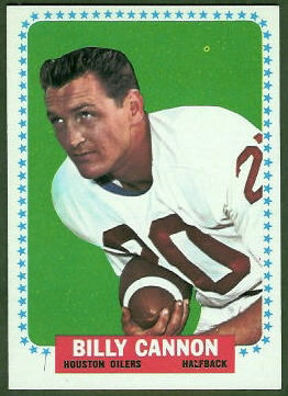 Billy Cannon 1964 Topps football card