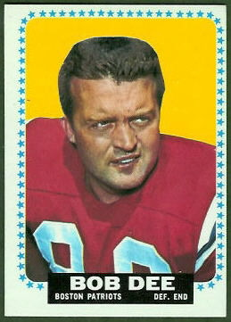 Bob Dee 1964 Topps football card