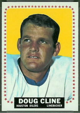 Doug Cline 1964 Topps football card