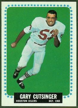 Gary Cutsinger 1964 Topps football card