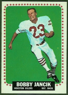 Bobby Jancik 1964 Topps football card