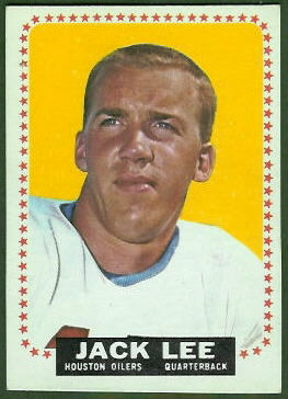 Jack Lee 1964 Topps football card