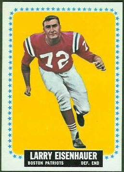 Larry Eisenhauer 1964 Topps football card