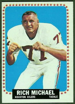 Rich Michael 1964 Topps football card