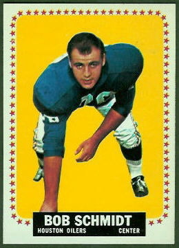 Bob Schmidt 1964 Topps football card