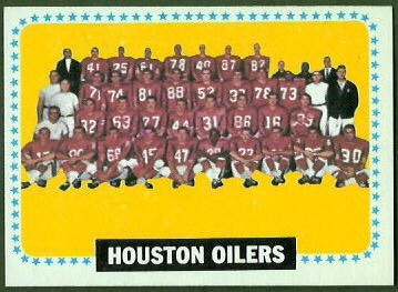 Houston Oilers Team 1964 Topps football card