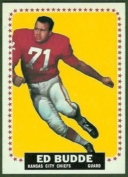 Ed Budde 1964 Topps football card