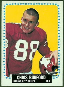 Chris Burford 1964 Topps football card