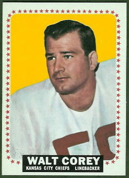 Walt Corey 1964 Topps football card
