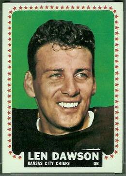 Len Dawson 1964 Topps football card