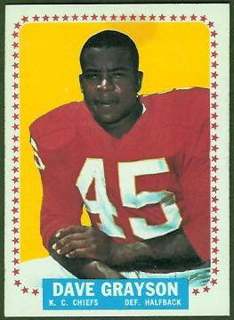 Dave Grayson 1964 Topps football card